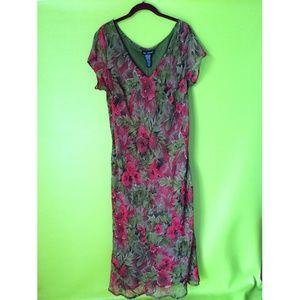 Mlle Gabrielle Floral Lined Maxi Dress Sz 18